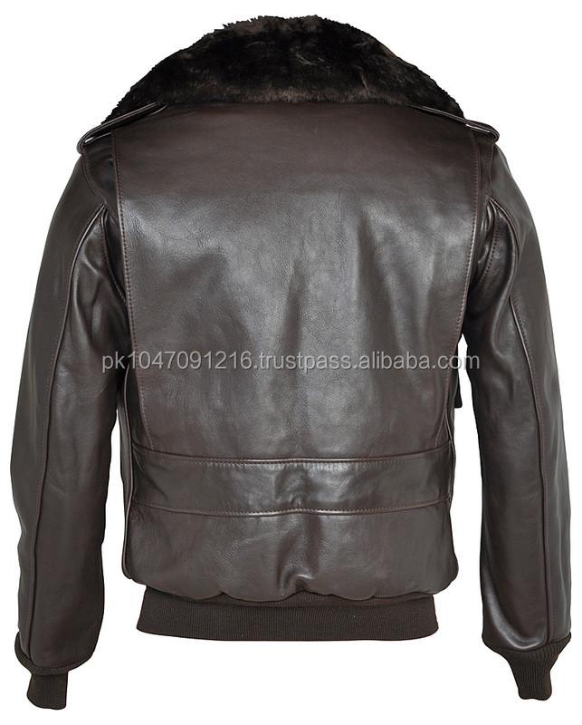Naked Cowhide Leather Flight Jacket
