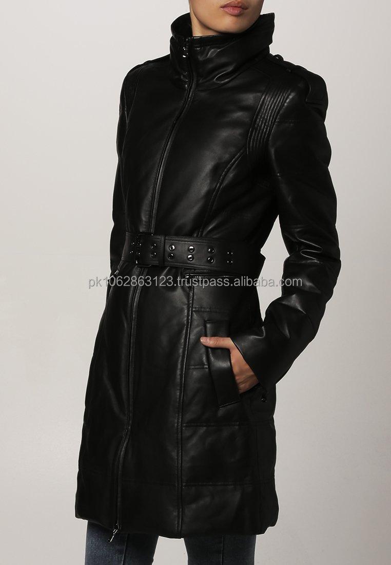 Echt Leren Jas Dames.100 Echt Schapenvacht Dames Lange Lederen Jas Buy Dames Mode