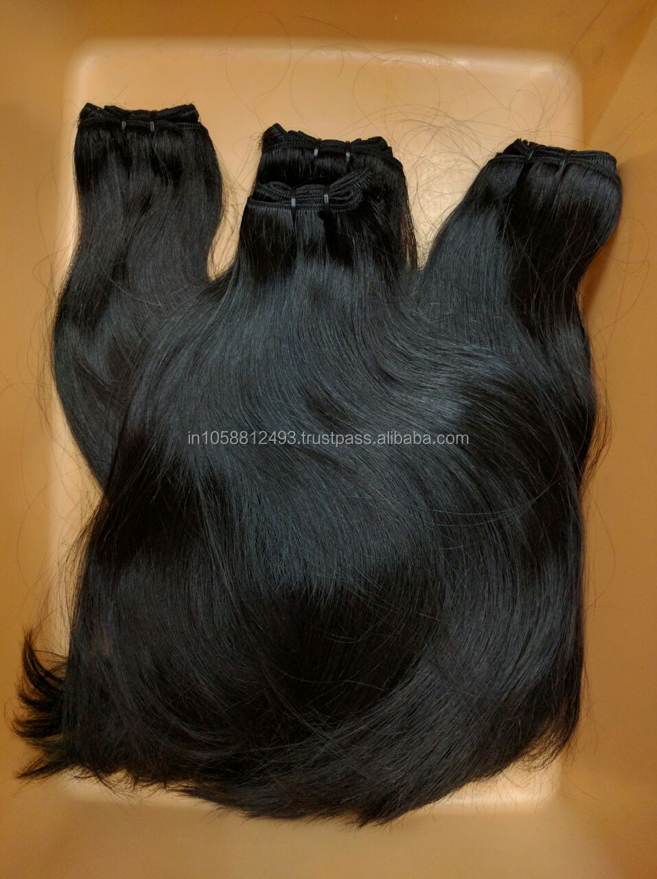 Wholesale Silky straight hair 100% remy virgin human hair extenion