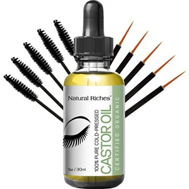 Pure Organic Cold Pressed Castor Oil For Eyelashes And Eyebrows