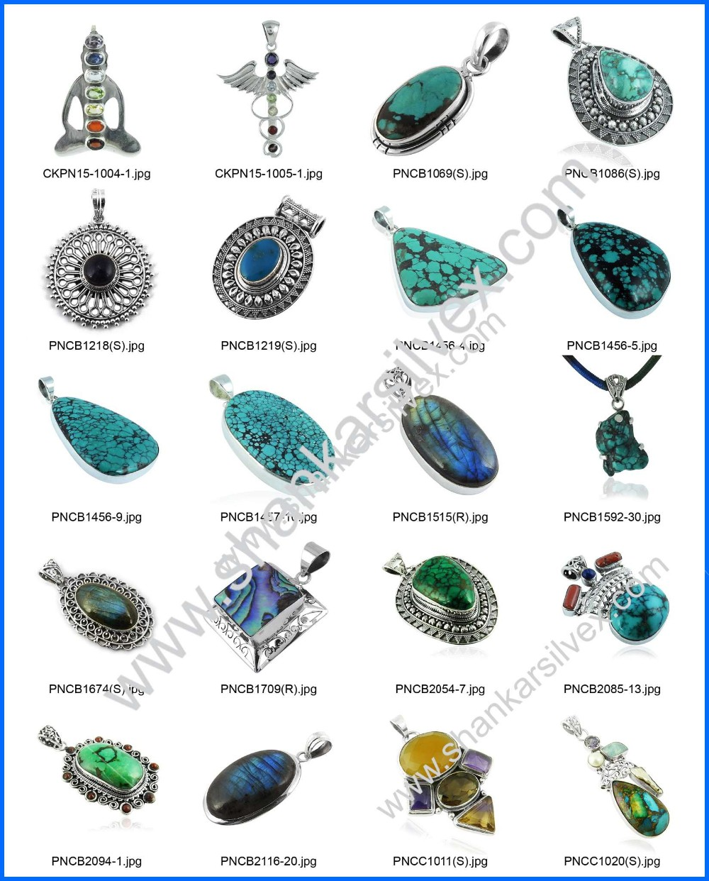 Charming multi gemstone charm silver jewelry 925 sterling silver jewelry pendants wholesaler