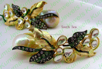 Long South Sea Pearl Earrings