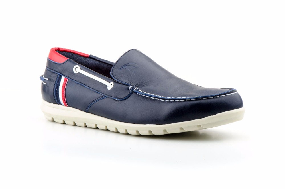 Fashion nautical shoe for men, high quality durable leather, made in Spain