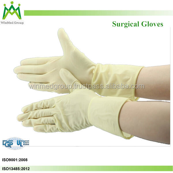 cheap price hight quality wholesale powdered custom latex rubber sterile medical surgical latex gloves