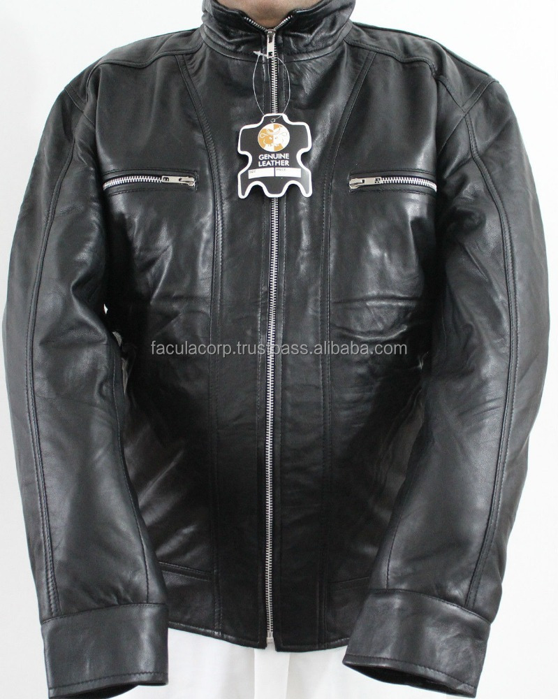 Men Real Sheep Skin Leather Fashion Jacket Small Size Brand New FC-7786