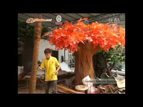 Visit famous artificial tree company.How to make artificial palm tree/cherry blossom tree?