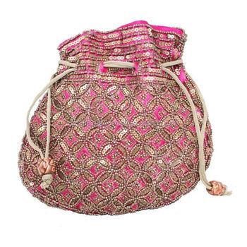Women S Las Partywear Designer Drawstring Potli Clutch Wallet Purse Bag Wedding Gift Jewelry Pouches Pouch