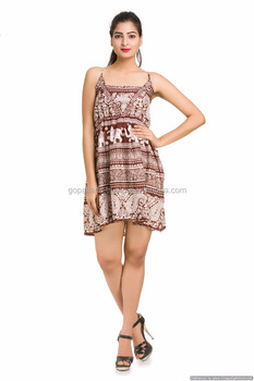 Indian Fashion Art GirlsTunic Sleevless Top Elephant Designer One Piece  Dress 4aac9460dc9b