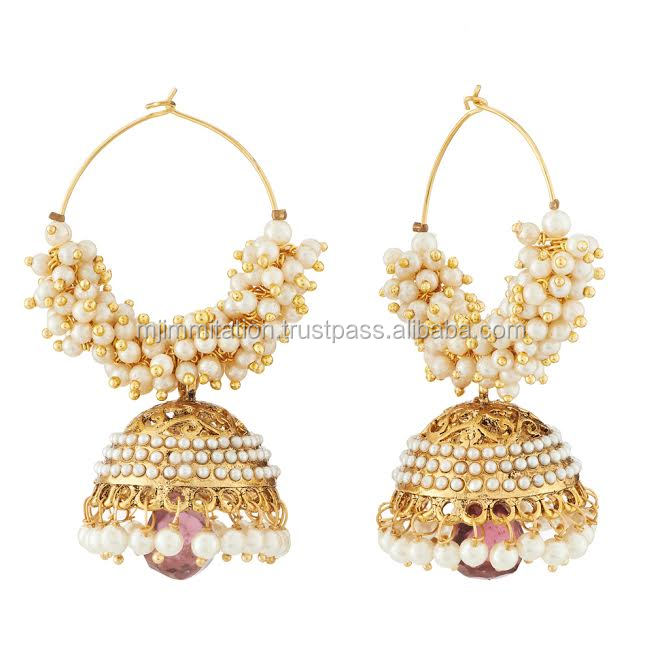 Whole New Fashion Artificial Jhumke Woman Jhumki Latest Design Earring Top