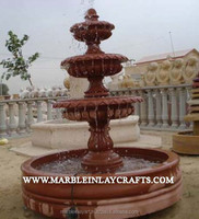 Red Sandstone Waterfall Fountain