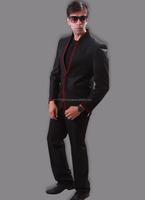 Black jute blazer online shopping