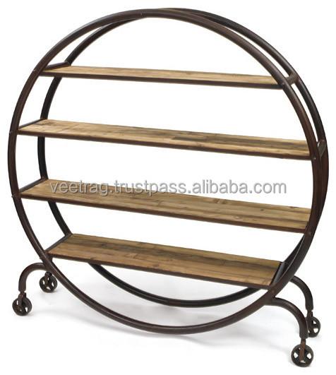 https://sc01.alicdn.com/kf/UT8U4azXsVaXXagOFbXP/Industrial-Iron-Round-Metal-Bookcase-Vintage-Industrial.jpg