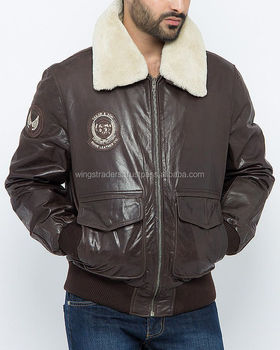 High Quality Dark Brown Italian Lamb Leather Bomber Jacket With Removable Fur Collar Buy New Fashion Slim Fit Men Brown Leather Jacket For Men With Fur Collar Latest Design Pure Lamb Leather