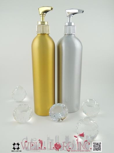300ml textured spray painting aluminum bottle with lotion pump