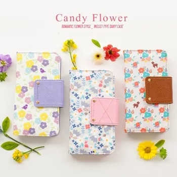 Flower Pattern Wallet Cover For Cell Phone Beautiful Mobile Phone ...
