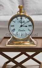 Designer Brass Finish Table Clock at Wholesale Price