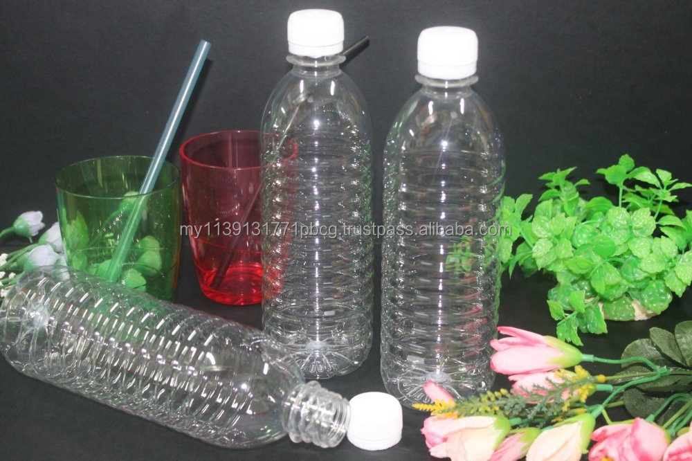 Malaysia PET Mineral Water Bottle 500ML with White Screw Cap. RM0.197 per piece!
