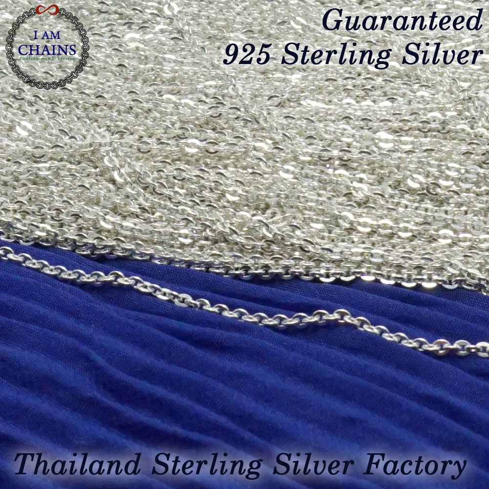 wholesale chains silver chain bulk oxidized per unfinished sterling sold strong foot flat cable