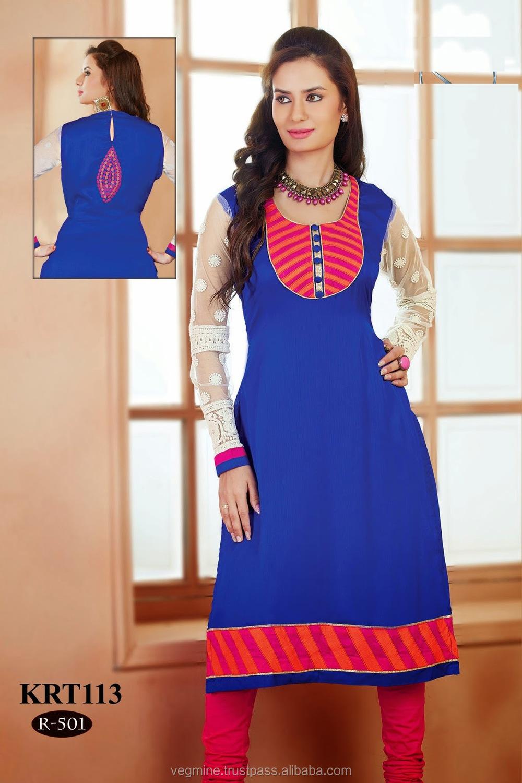 Collar Neck Designs Kurtis Indian Kurtis Wholesale Buy
