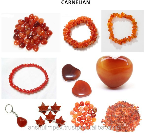 Carnelian Chips Bracelet for Healing, Casual Wear