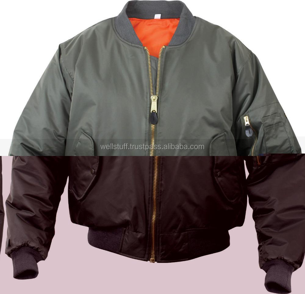 Womens Ladies Classic Padded Bomber Jacket Vintage Zip Up Biker Coat Stylish MA1