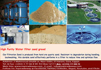 Filter Sand, Filter Gravel, Filter Pebble