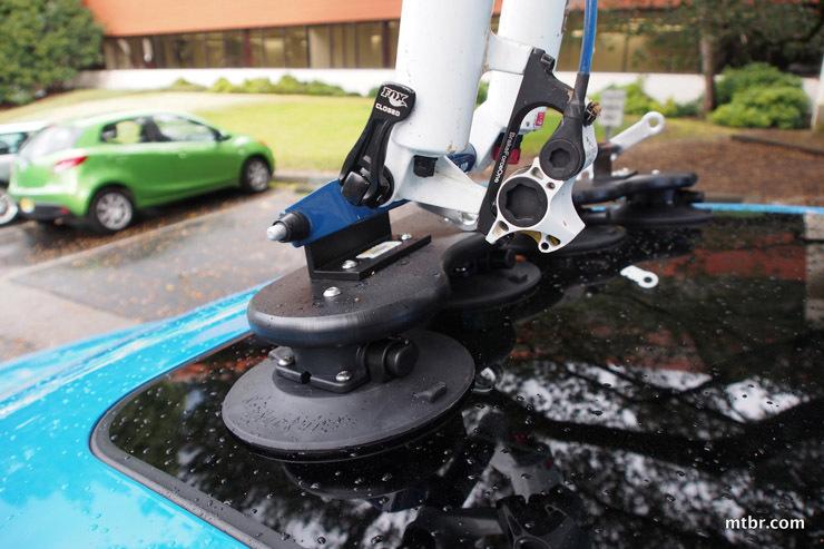 High Quality Suction Cup Roof Rear Bike Rack Ski Rack