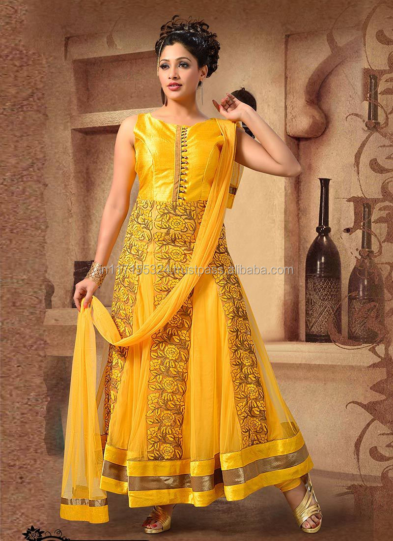 Semi Stitched Dress Materialbuy Stylish Bollywood Anarkali Salwar ...