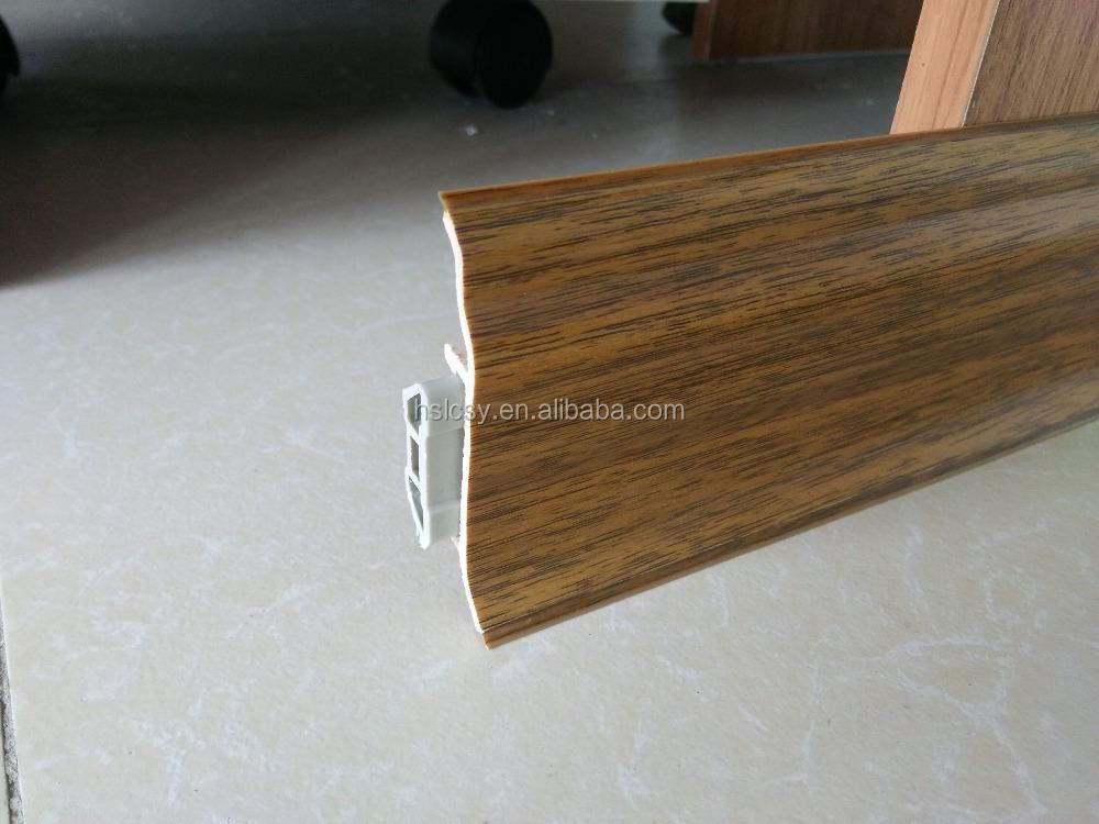 Mdf Wood Flooring : Laminate mdf wood floor trim skirting board pvc moulding