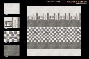 300 X 450 Mm Glazed Ceramic Digital Wall Tiles 276 - Buy Bathroom ...
