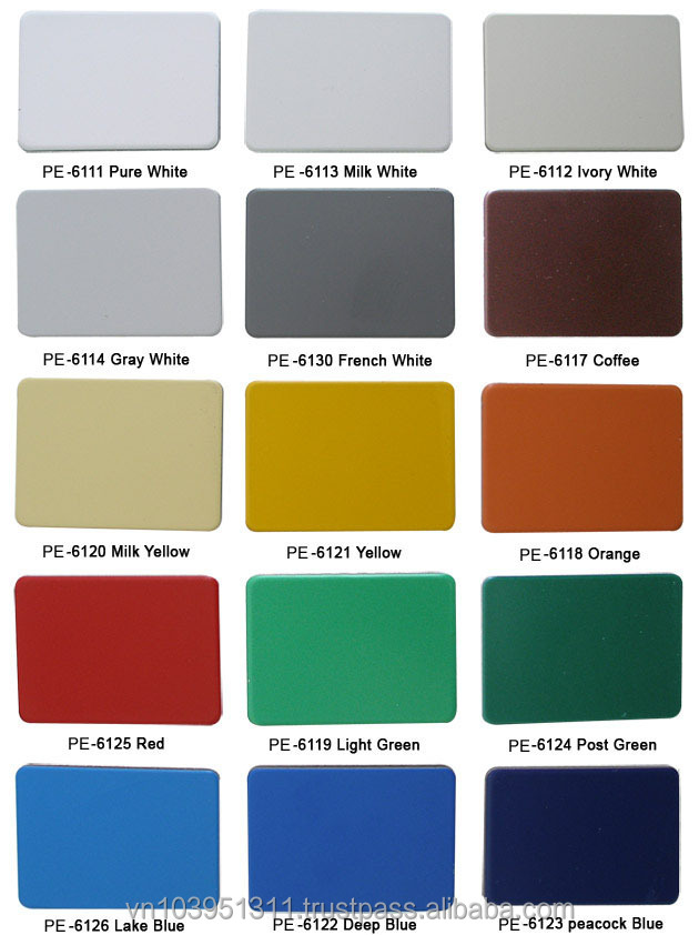 Pvdf Coated High Quality Aluminium Composite Panel Acp