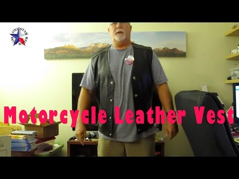 Unboxing VikingCycle Gun Pocket Motorcycle Leather Vest