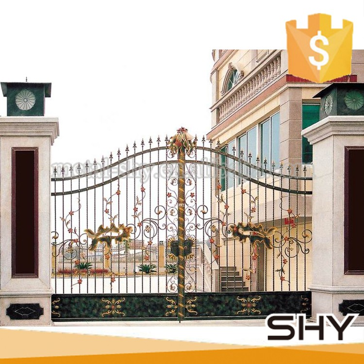 Cheap morden wrought iron indian house latest main gate for Main gate door design