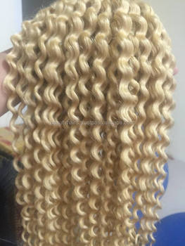 Vietnamese Blonde Deep Curly Hair Machine Weft Hair/no Tangle/no Shedding / Still Come Back ...