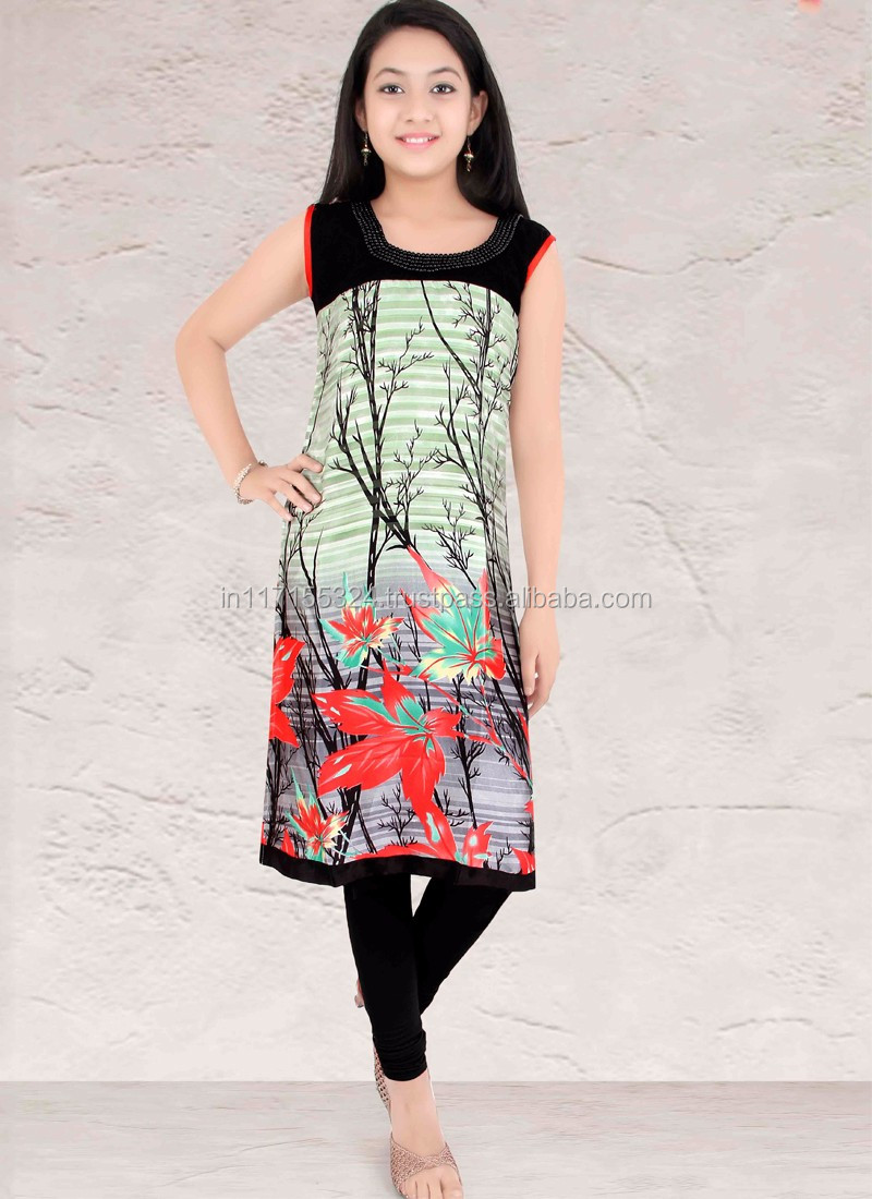 girls multi long kurti fashion in india latest girls wear kurtis