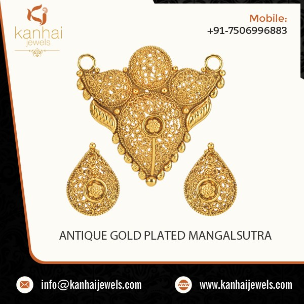 Splendid Designer Antique Gold Plated Mangalsutra from Reliable Seller