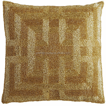 Golden Sequence Pillows Cover40x40 Pillows CoverSquare Metallic Classy Medallion Pillow Covers