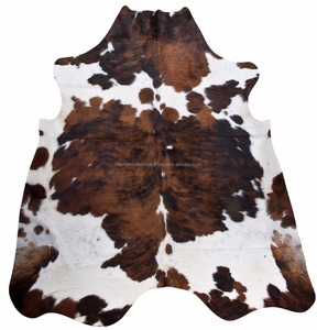NEW LARGE Cowhide Rug Tricolor Cow skin Cow Hide Leather Carpet