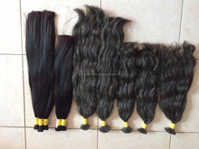 High Quality natural color, grey color 100% Virgin Brazilian Hair