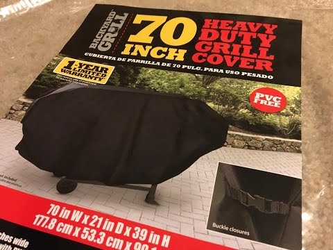 Get Quotations · Backyard Grill 70 Inch Heavy Duty Gas U0026amp; Charcoal Grill  Cover   Unboxing Video