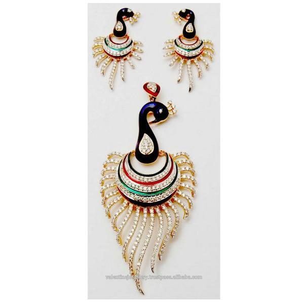 Peacock design gold diamond earring pendant buy peacock pendant peacock design gold diamond earring pendant buy peacock pendant earring setdiamond designer jewellerybeautiful jewellery product on alibaba aloadofball Images