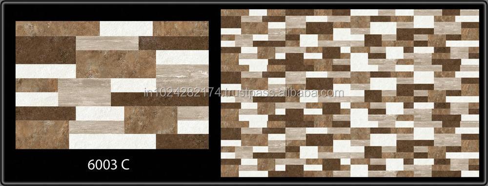 Digital Elevation Ceramic Glaze Wall Tiles In India 30x45cm Gujarat ...