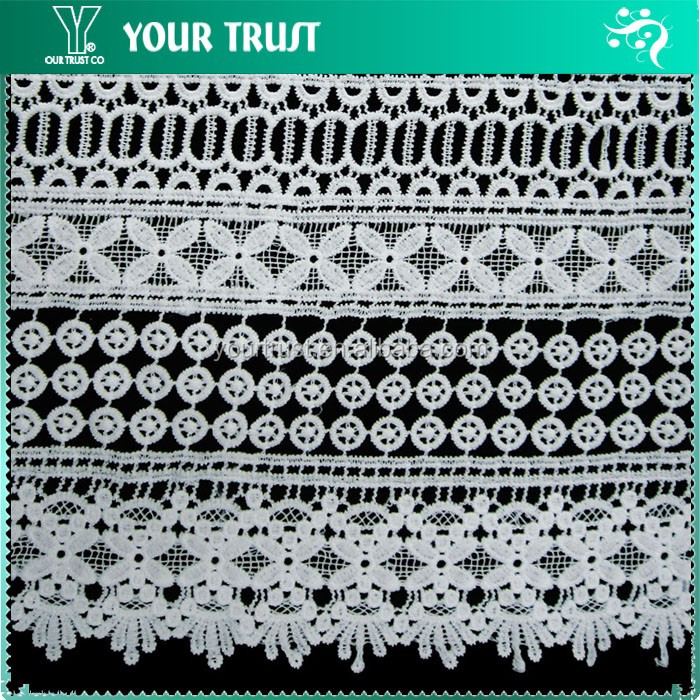 145 Gram 135 Centimeter White Embroidery Lace 100% Cotton Fabric ...