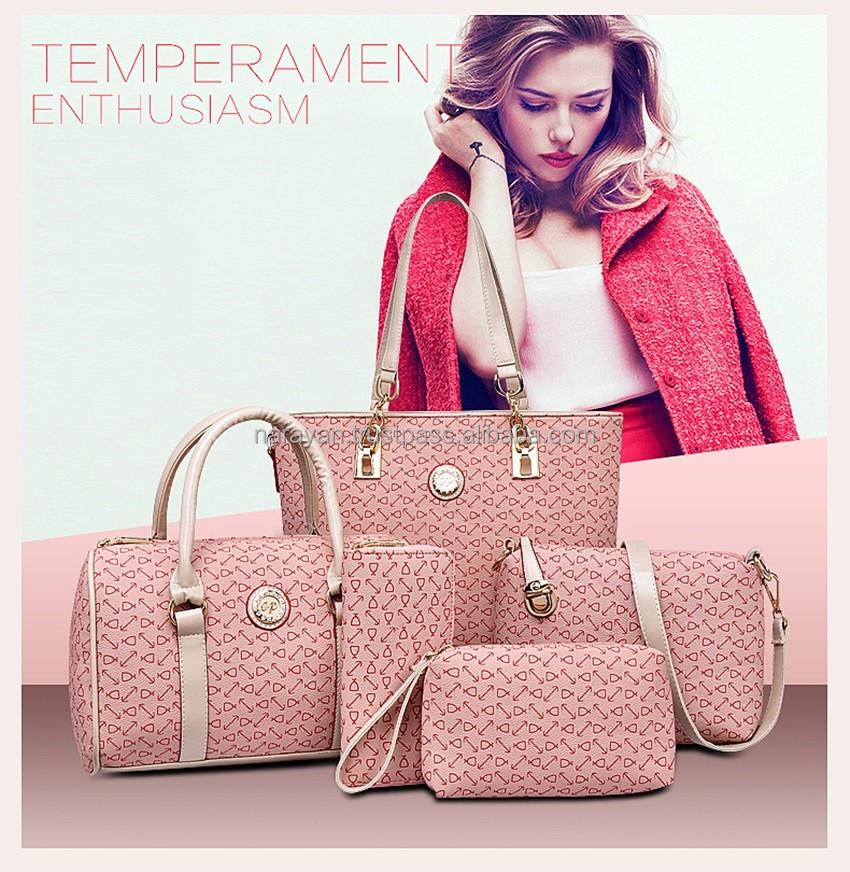 e0a666e4fed3f 2016 موضة ألوان 5 مجموعة السيدات حقيبة ، 5 مجموعة المرأة حقيبة ، عالية  الجودة 5