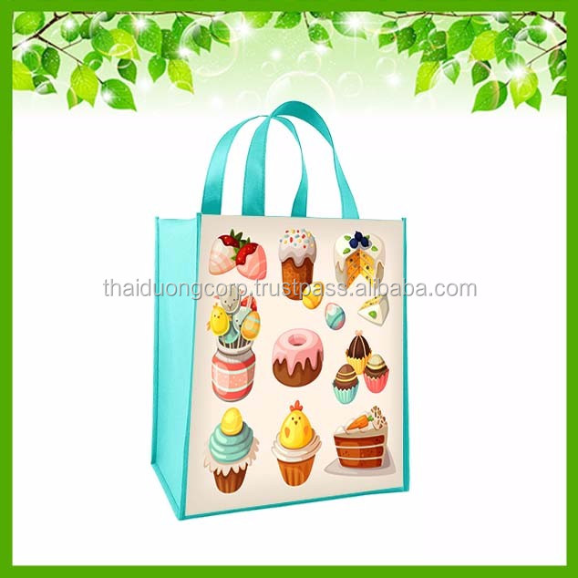 Laminated Non-Woven Large Shopper Tote for Customization