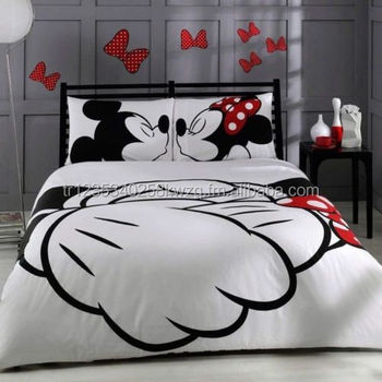 Licensed Disney Mickey Minnie Mouse Bedding Set 100% Cotton Doona ...
