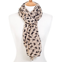 Factory Supply High Quality Cat Prints Rayon Viscose Scarf Shawls