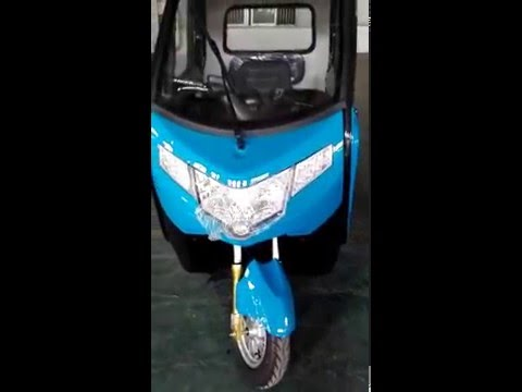 VID electric power passenger tricycle ready for loading in container