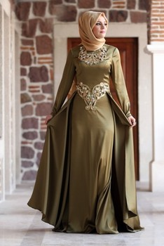 42740ff763590 Long Sleeve Muslim Evening Dresses - Buy Muslim Women Long ...