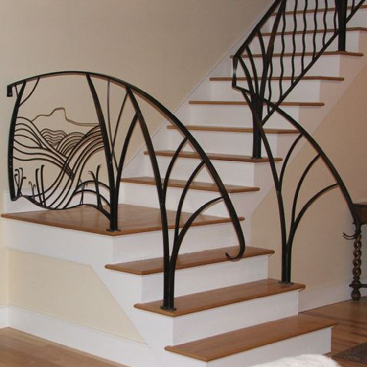 Cheap Outdoor Prefab Terrace Metal Stair Railing Design ...